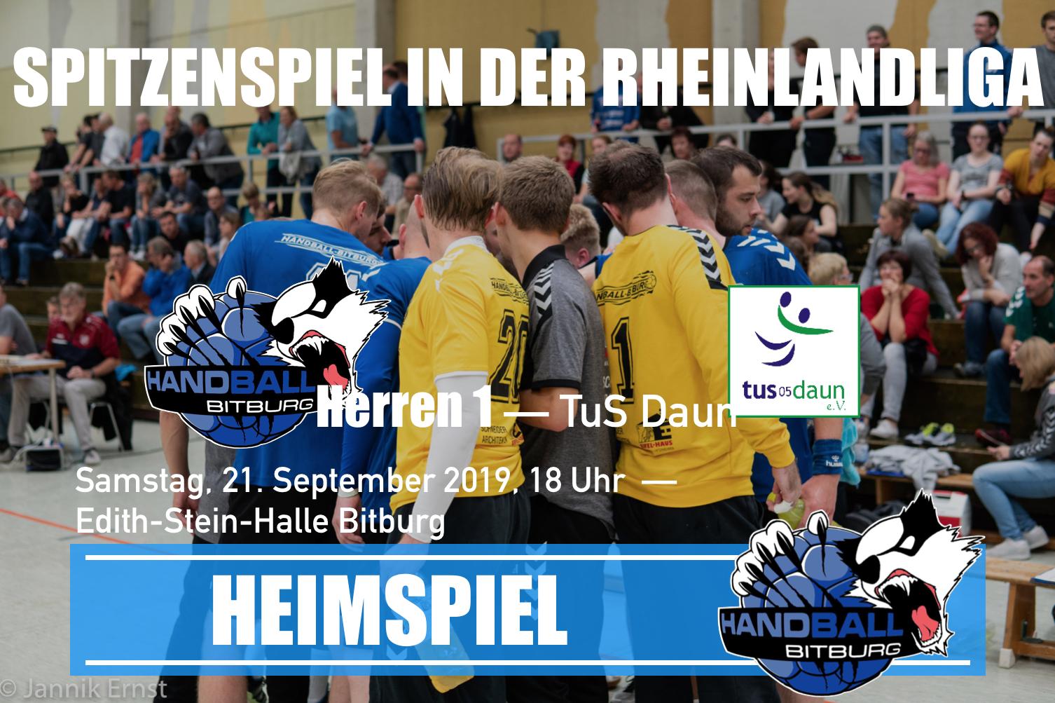 Spitzenspiel in Bitburg! 1. Herren Mannschaft gegen den TuS Daun