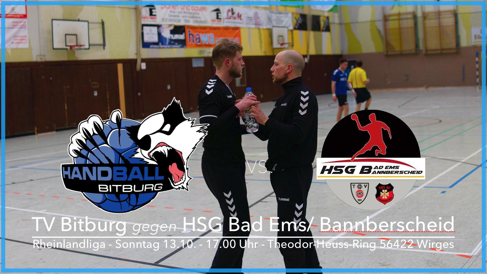 1. Herren Mannschaft trifft auf die HSG Bad Ems/Bannberscheid und unseren alten Torhüter