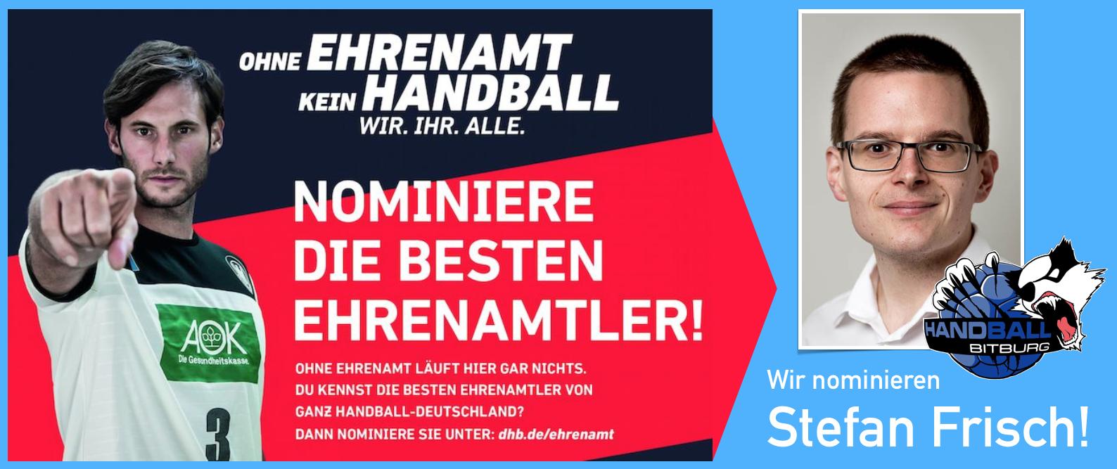 Wir nominieren Stefan Frisch beim DHB als Bester Ehrenamtler! – Helft uns!