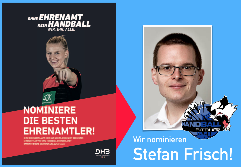 Stefan Frisch ist der Beste Ehrenamtler! – Unterstützt uns für seine Bewerbung beim DHB