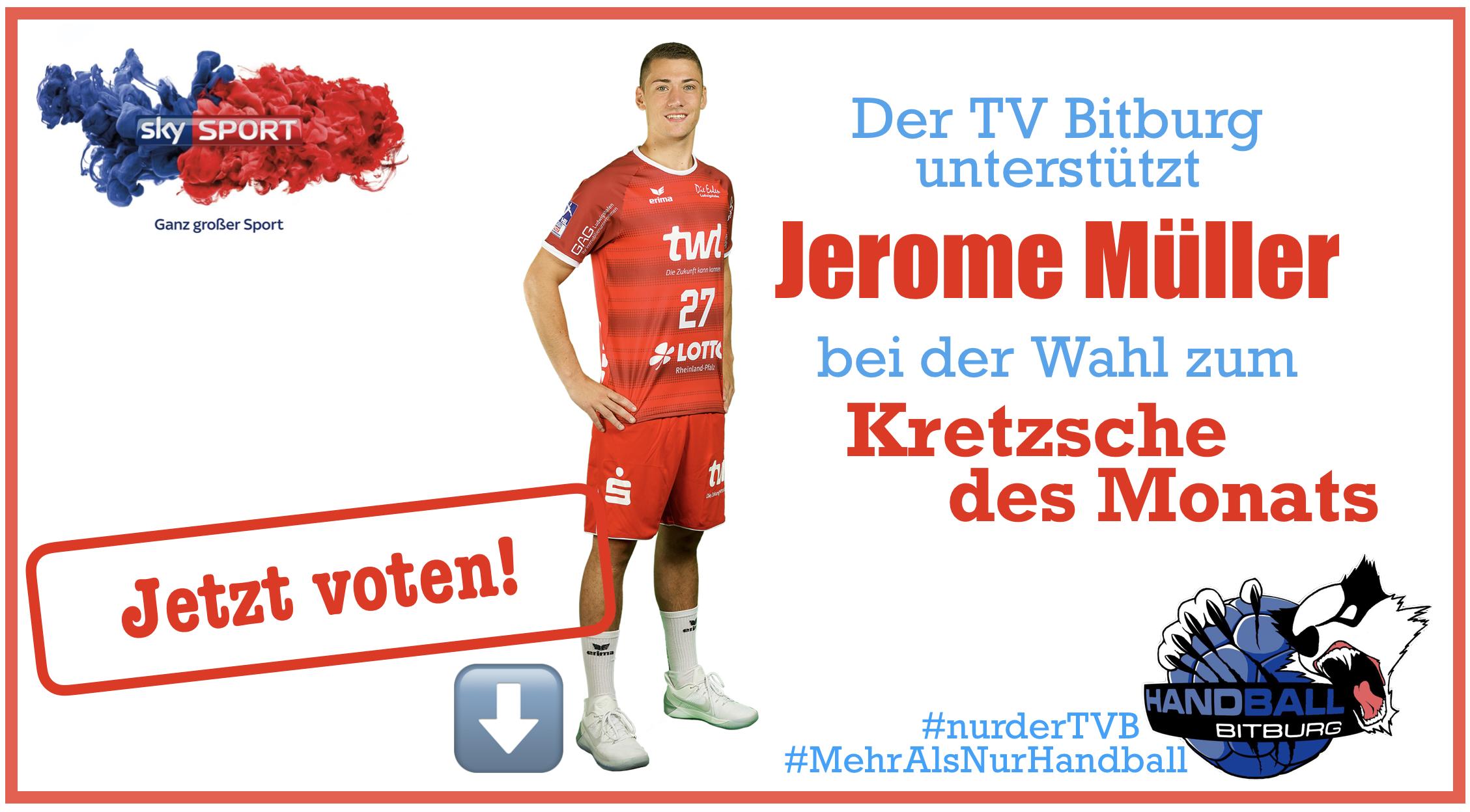 Jerome Müller zur Wahl beim Kretzsche des Monats