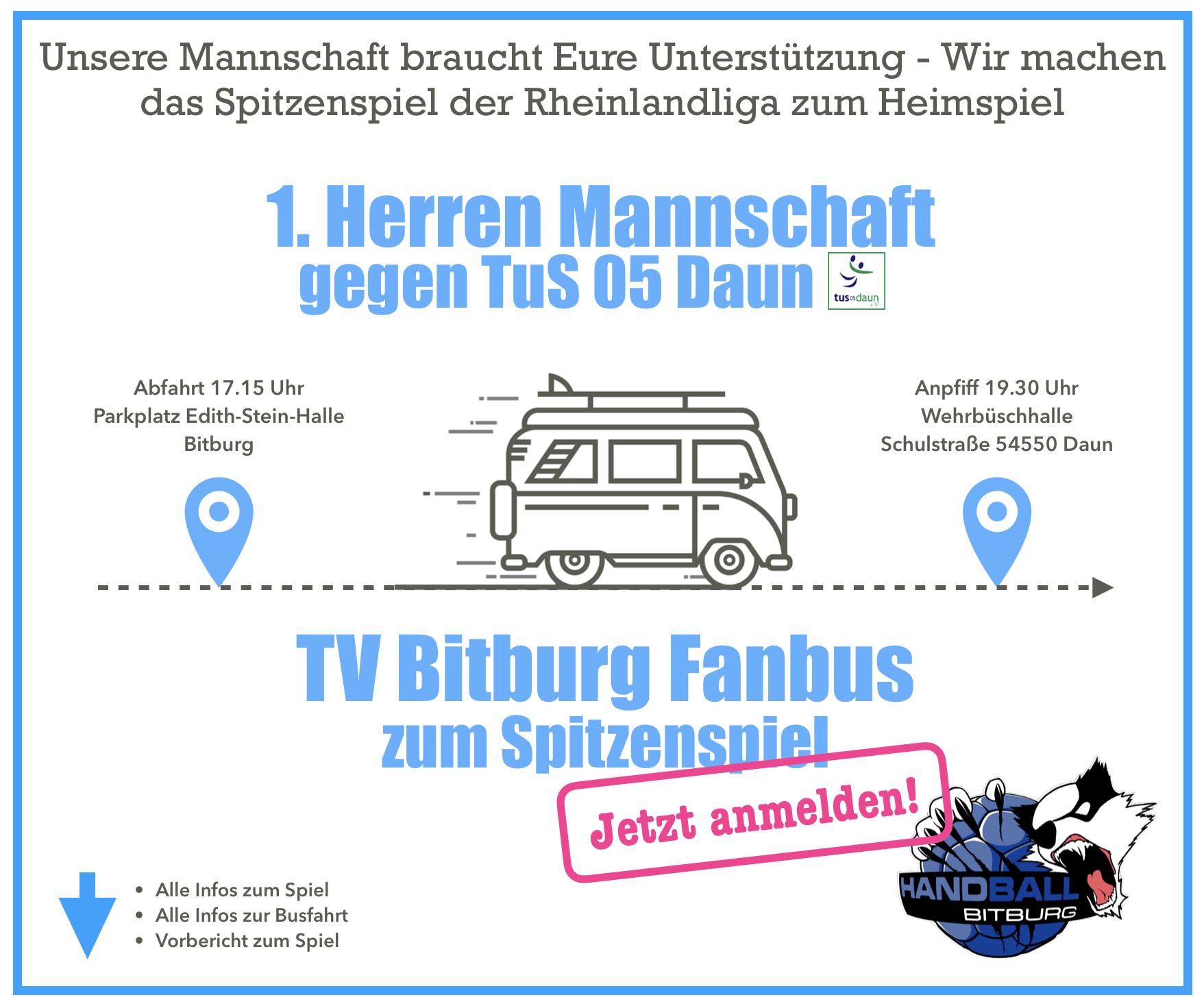 Das Spitzenspiel der Rheinlandliga: 1. Herren gegen TuS 05 Daun!