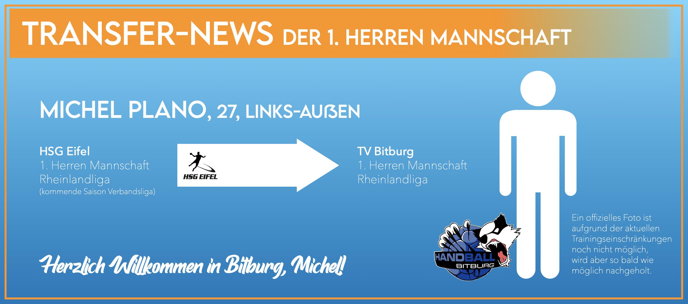Michel Plano wechselt nach Bitburg