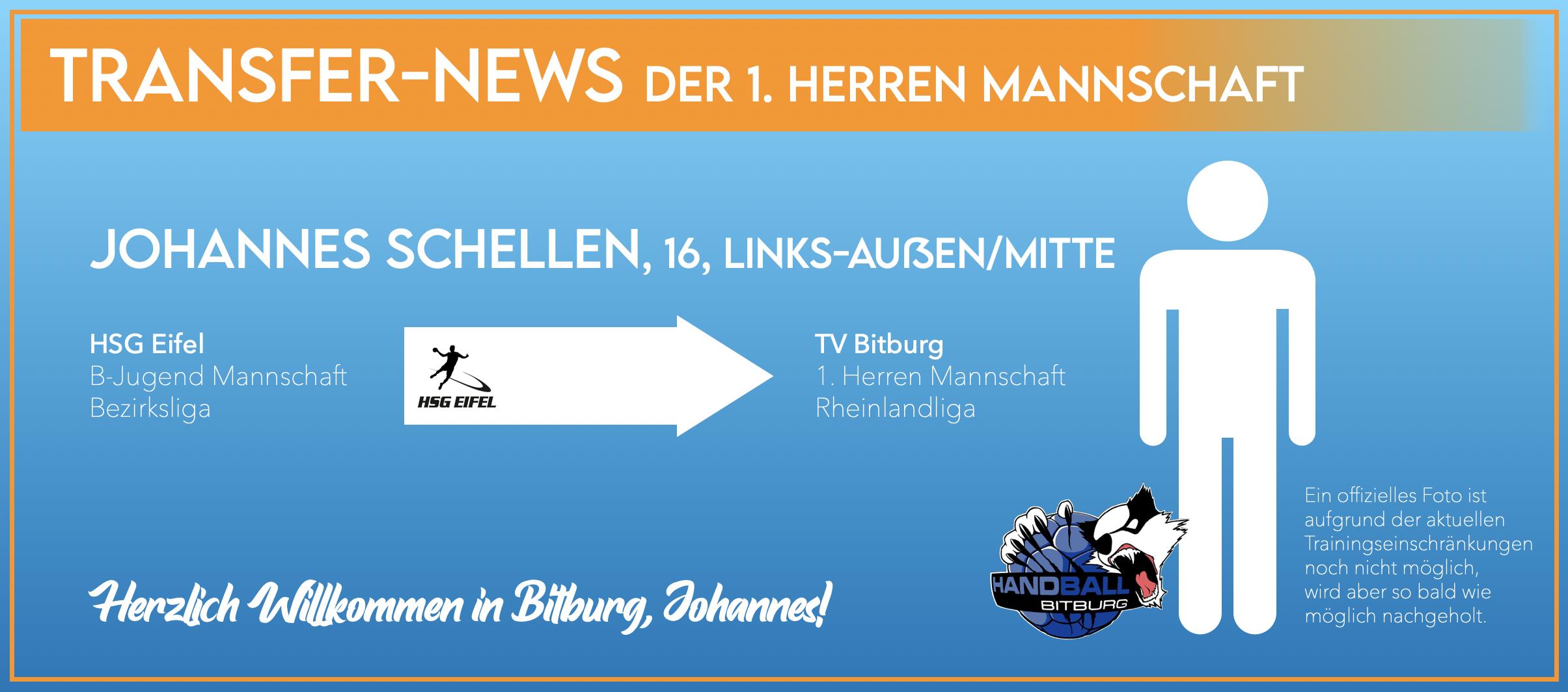 Johannes Schellen wechselt nach Bitburg