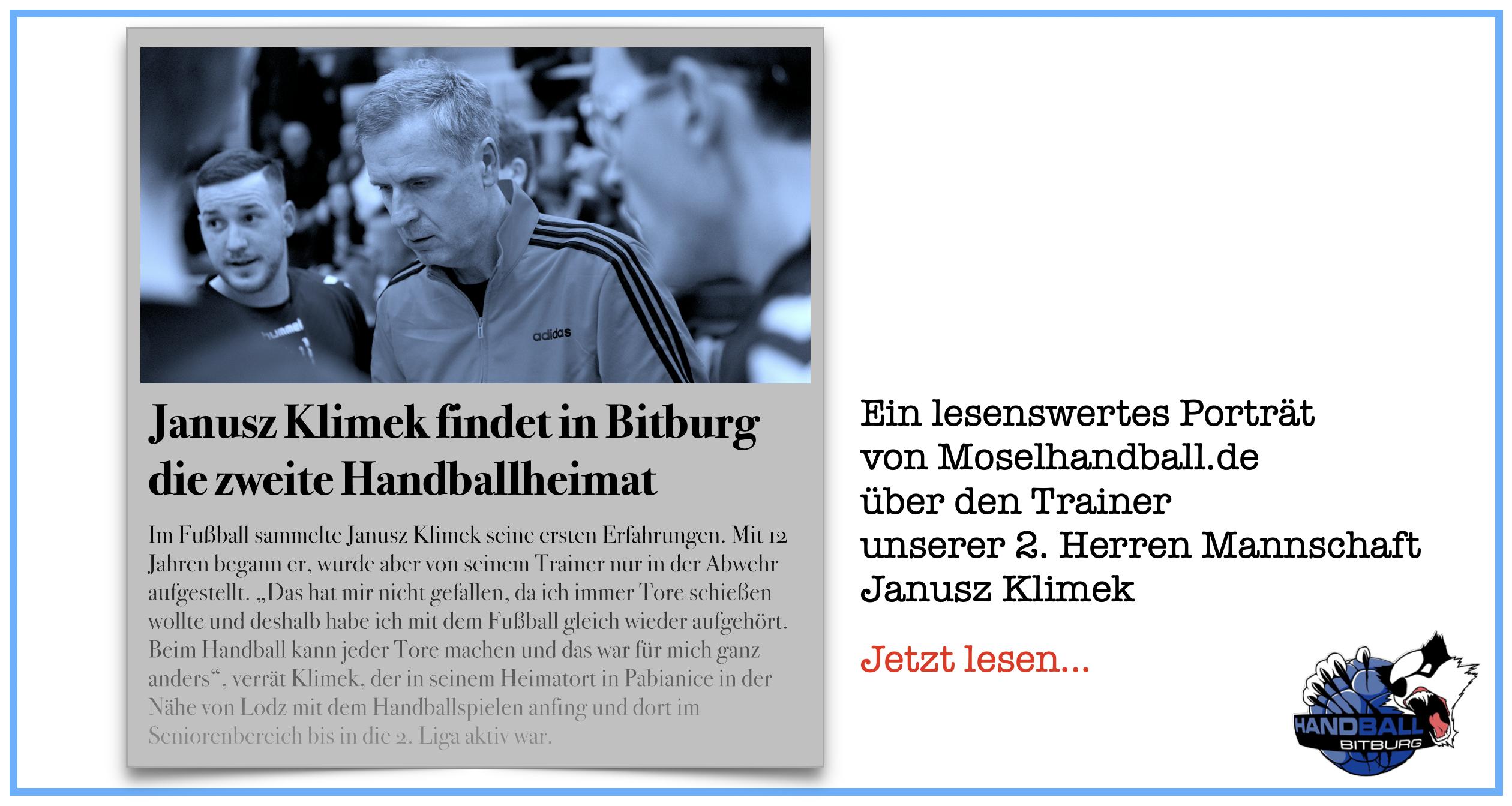 Moselhandball-Porträt: Janusz Klimek findet in Bitburg die zweite Handballheimat