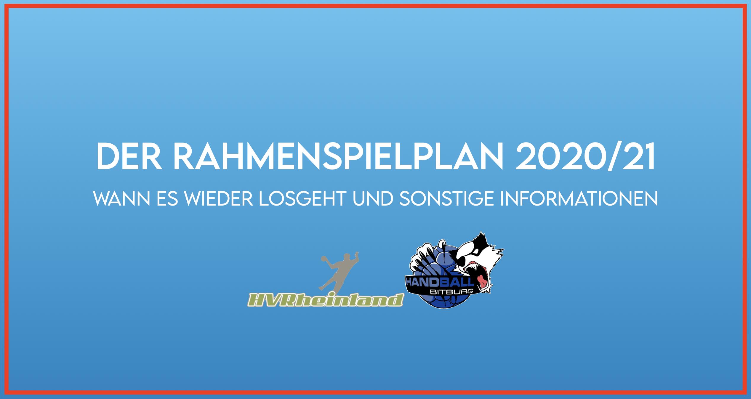 Rahmenspielplan und Durchführungsbestimmungen für die Saison 2020/21