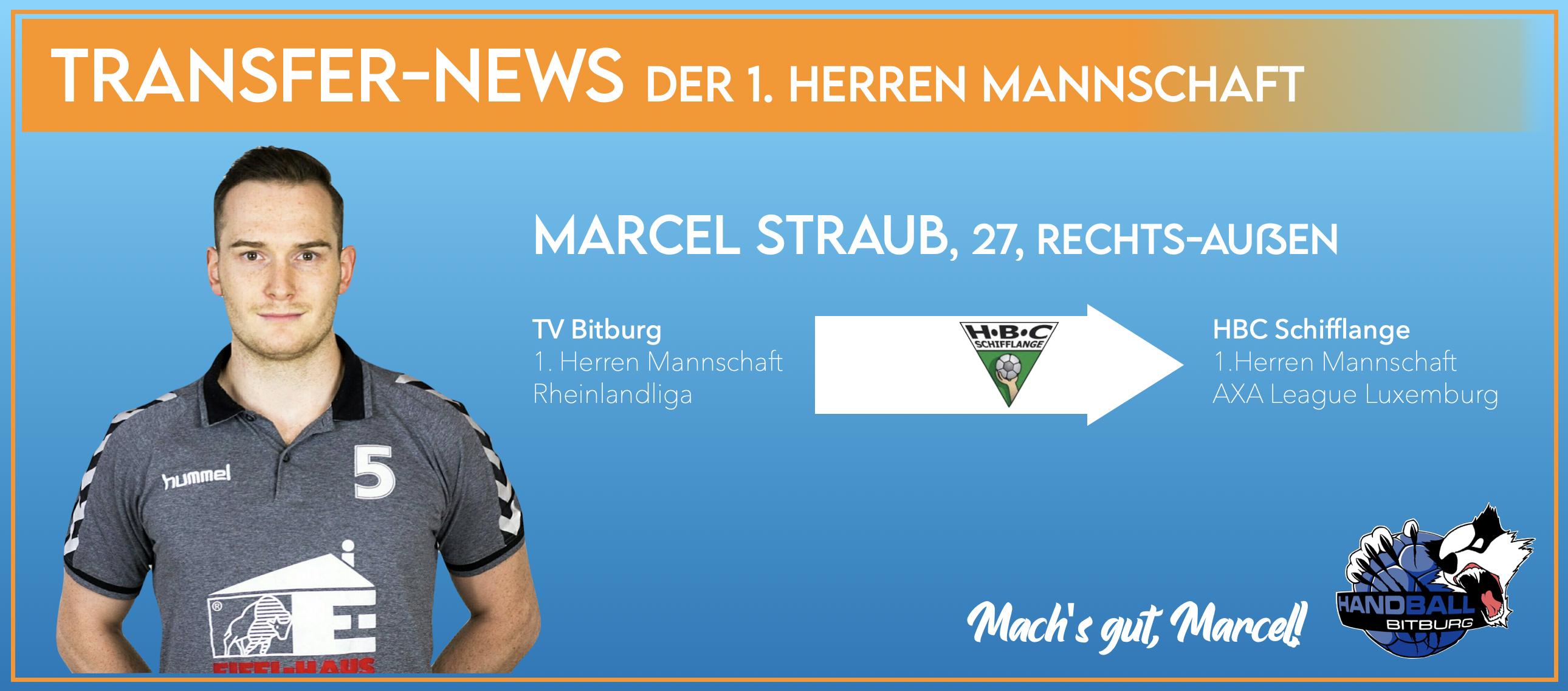 Marcel Straub verlässt den TV Bitburg
