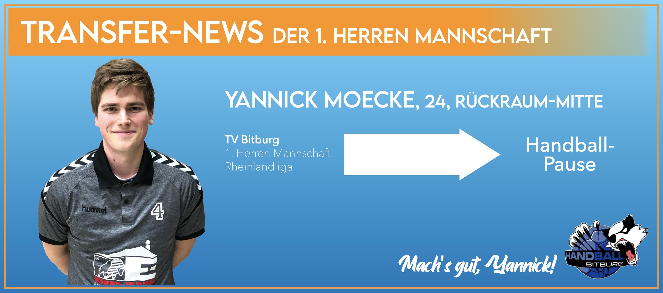 Yannick Moecke verlässt den TV Bitburg