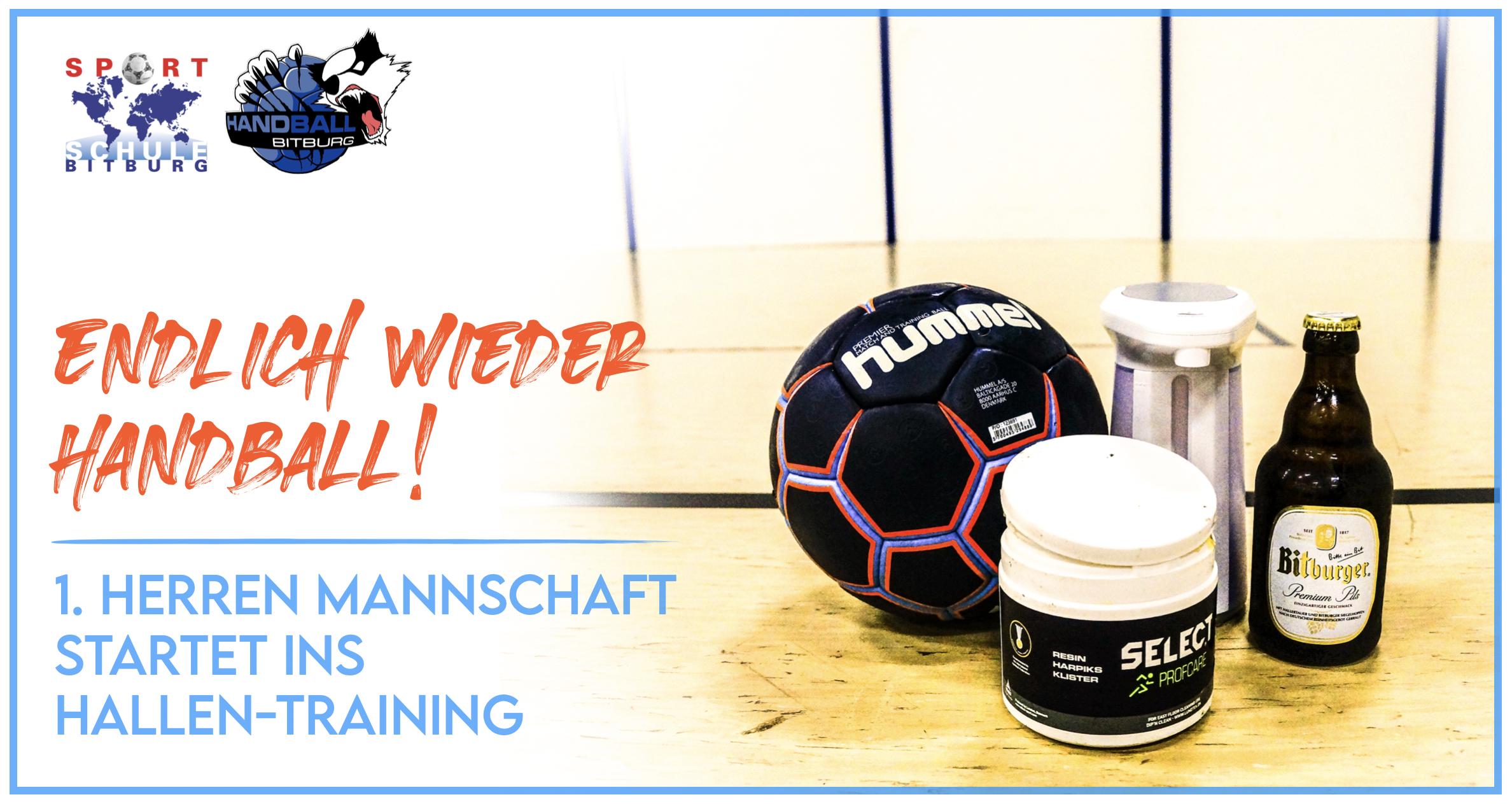 Endlich wieder Handball! – 1. Herren beginnen Hallen-Training