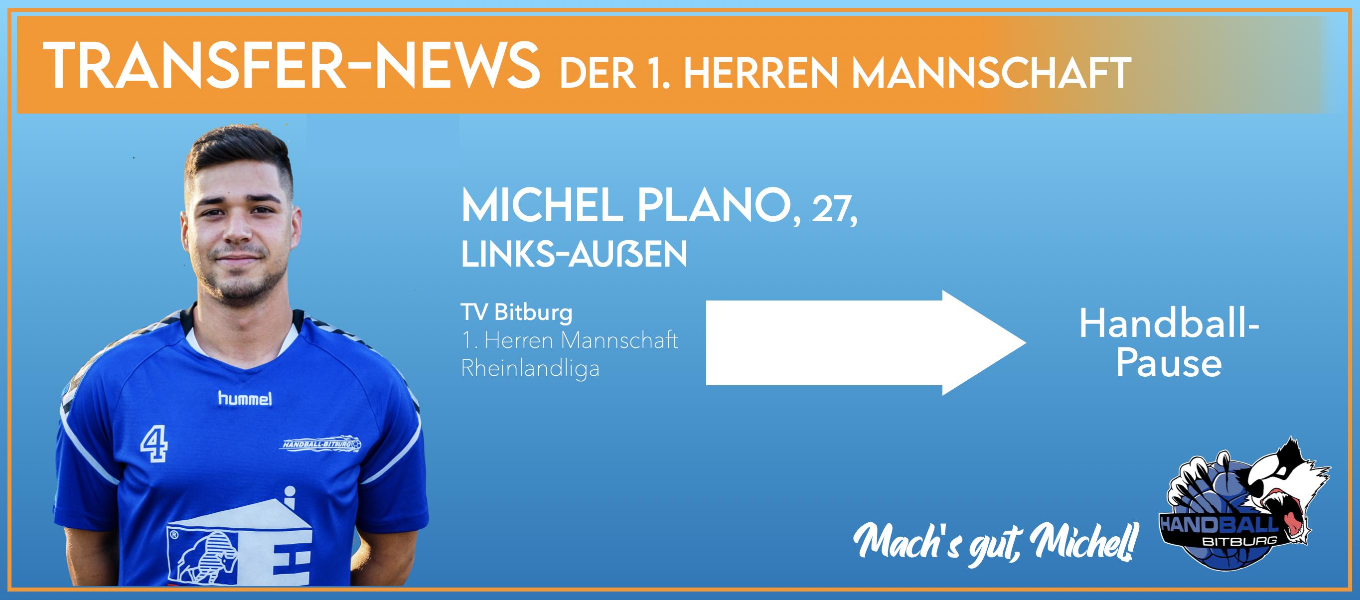 Michel Plano spielt nächste Saison doch nicht für die 1. Herren Mannschaft