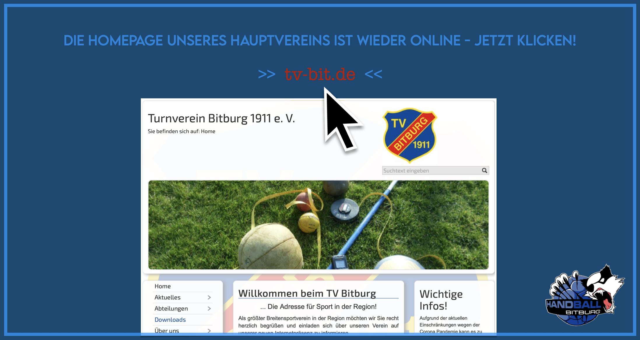 Die Homepage unseres Hauptvereins ist wieder online