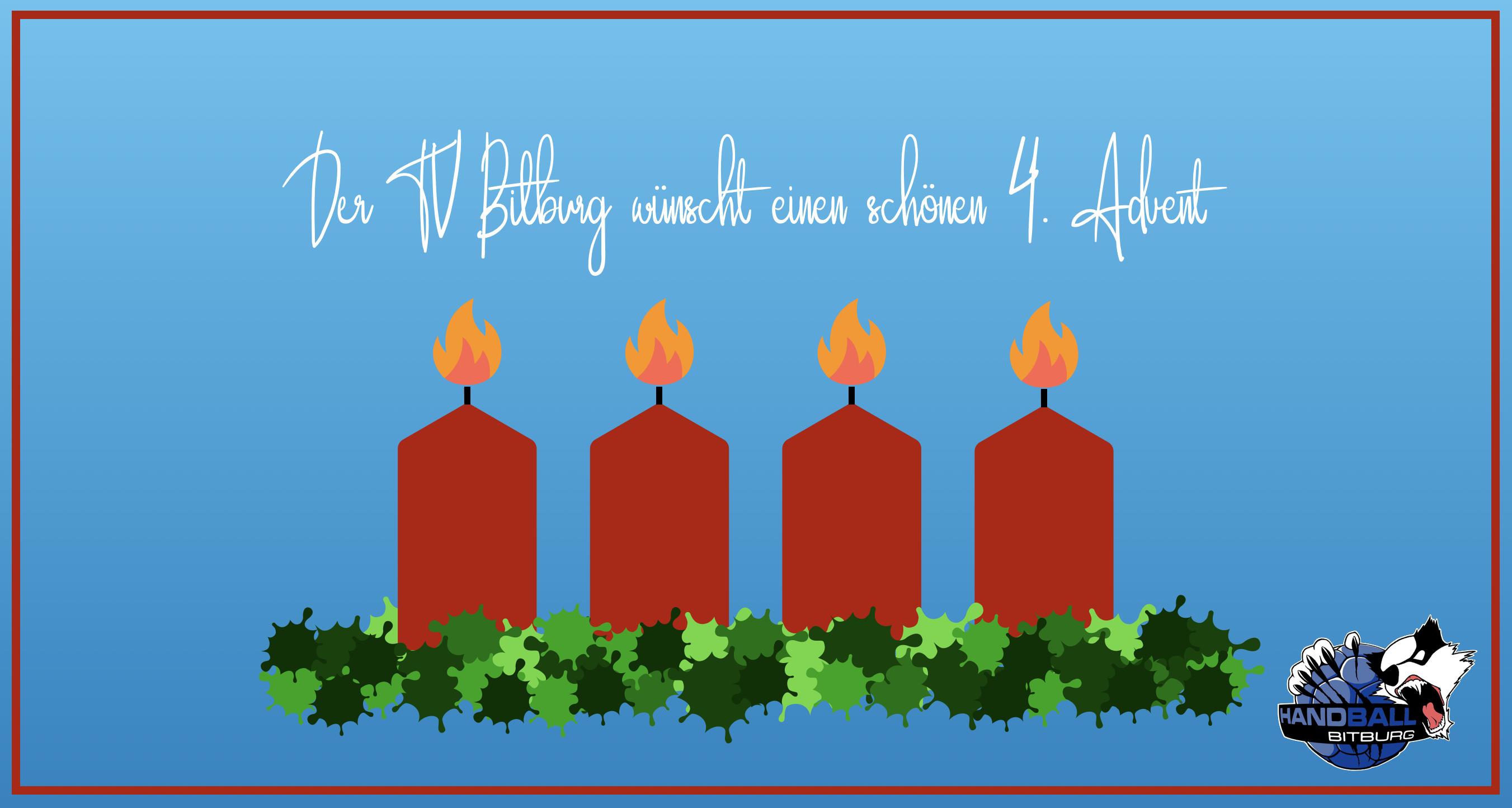 Wir wünschen ein schönen 4. Advent