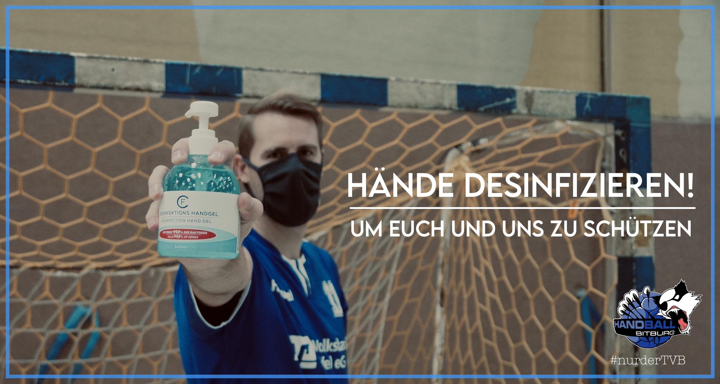 Hände desinfizieren nicht vergessen!