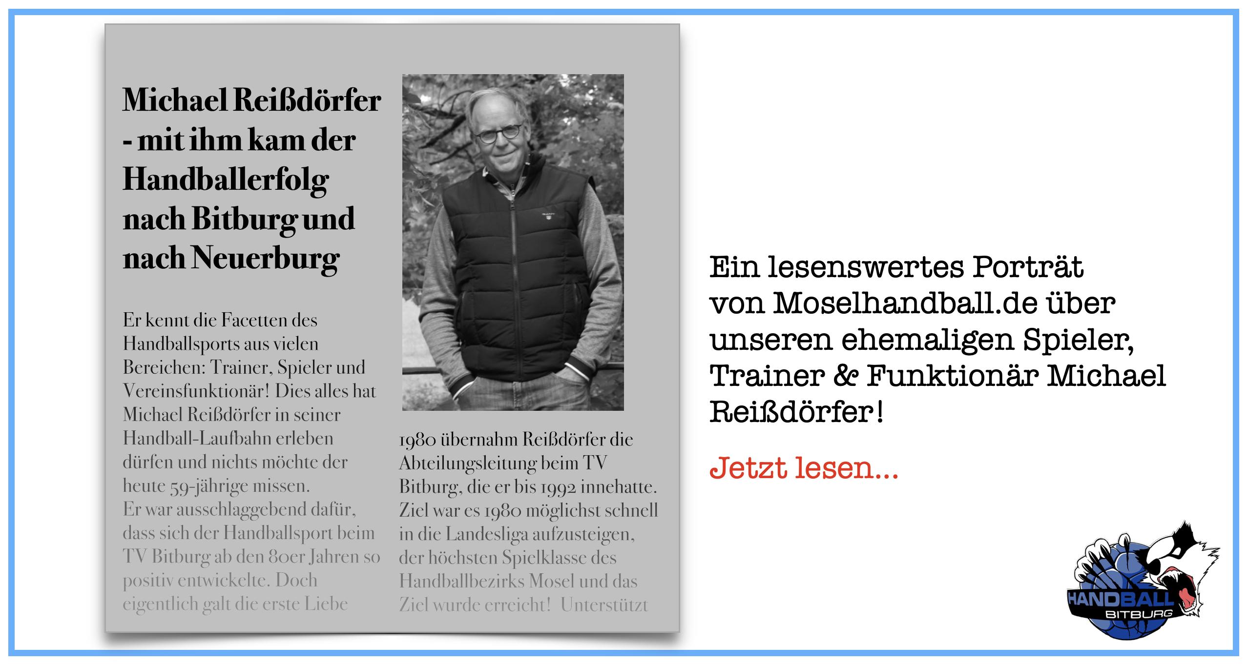 Im Moselhandball-Portrait: Michael Reißdörfer