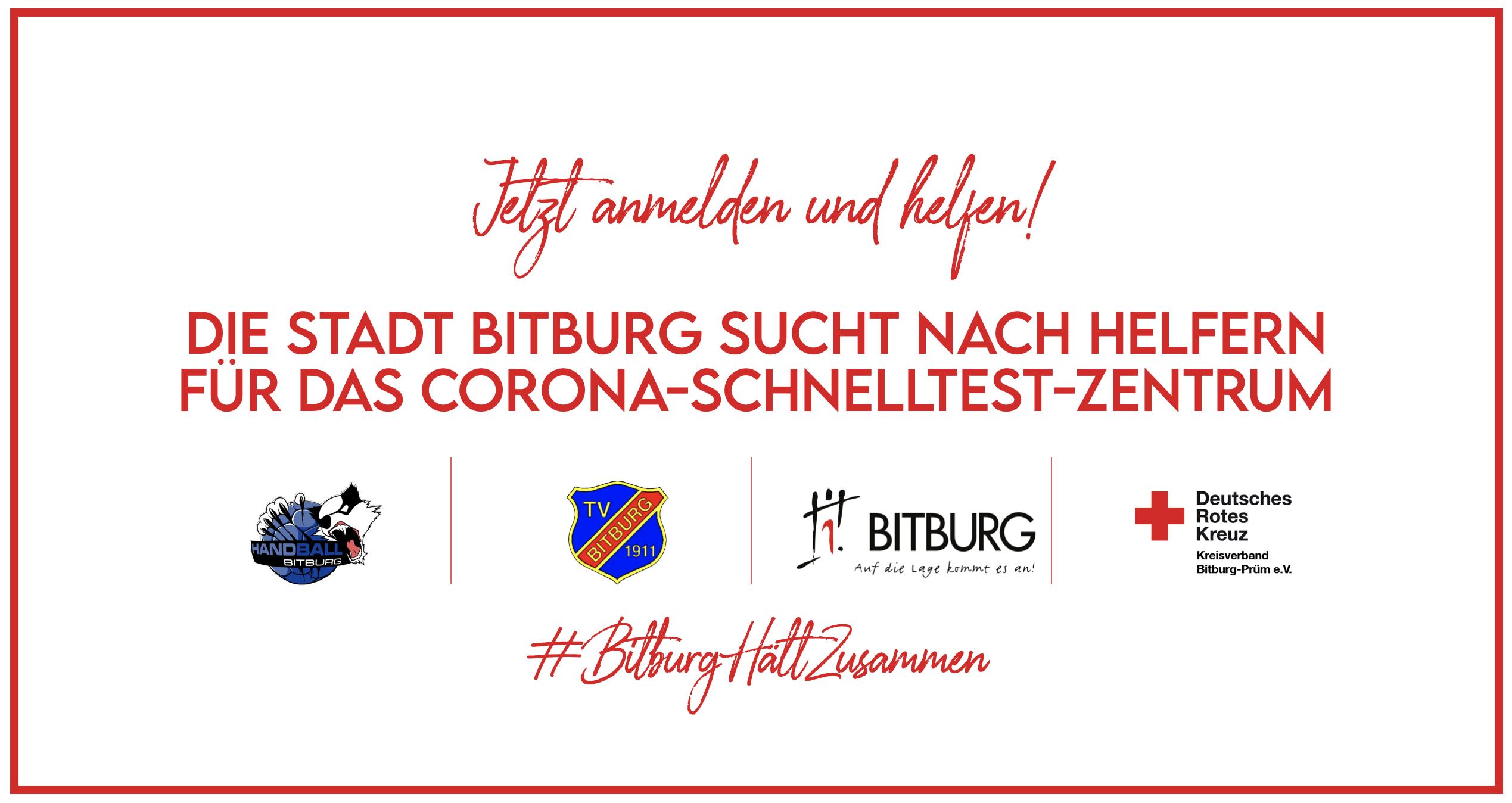 Bitburg sucht Helfer für das Corona-Schnelltest-Zentrum