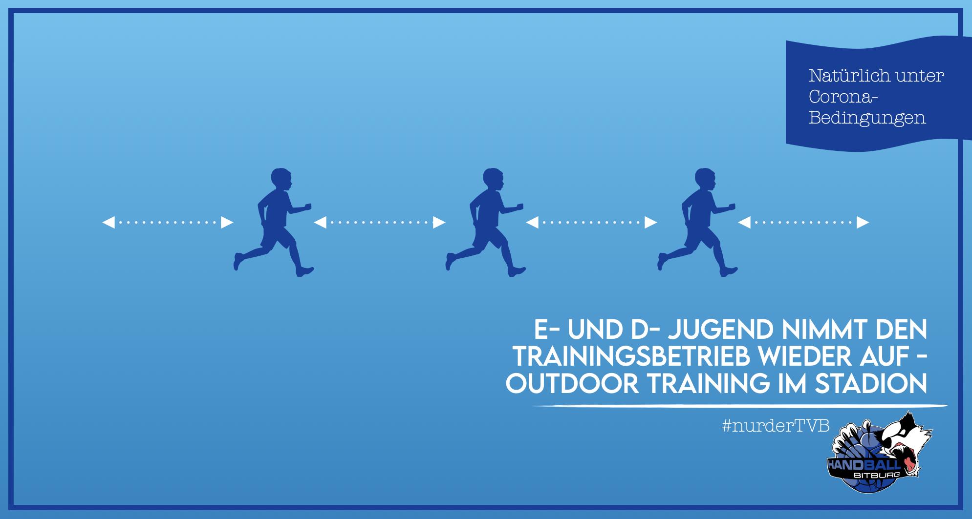 E- und D-Jugend nimmt den Trainingsbetrieb wieder auf