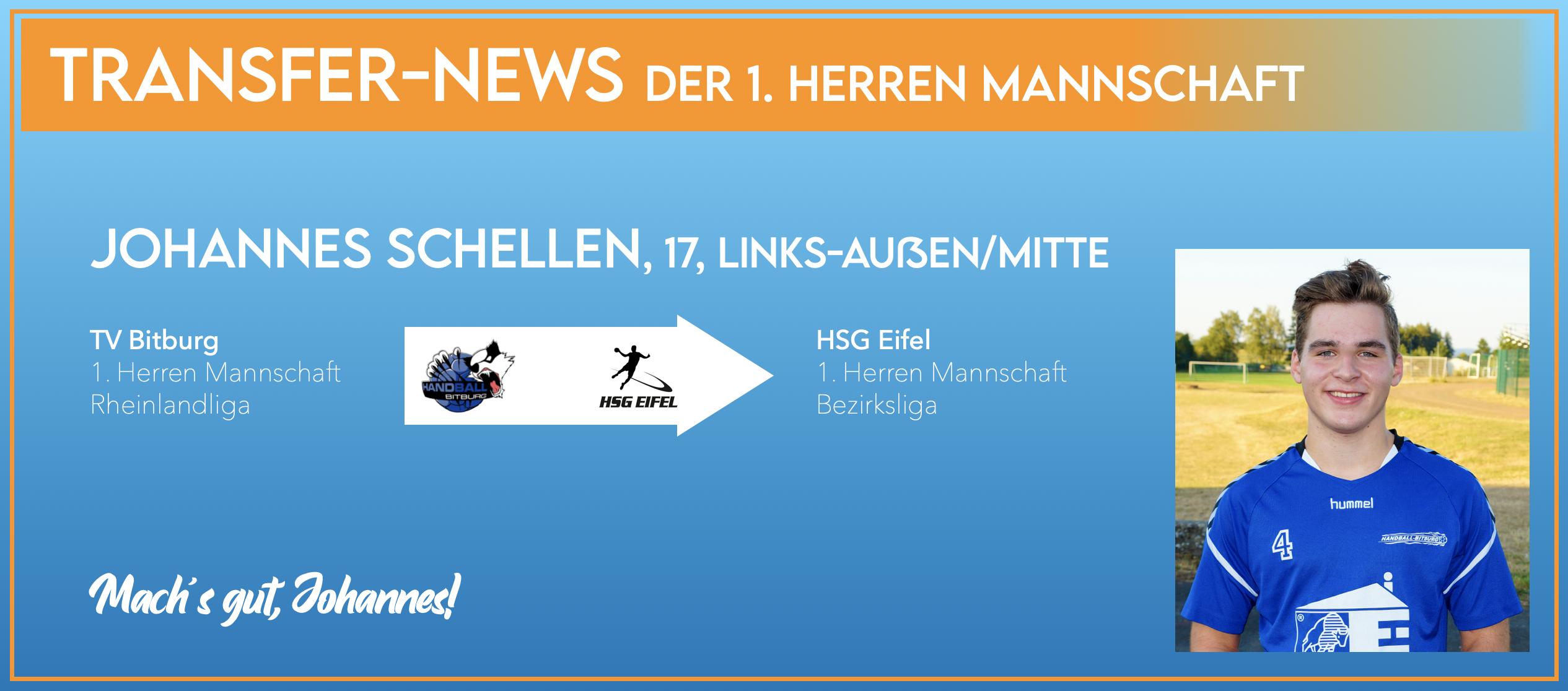 Johannes Schellen kehrt zur HSG Eifel zurück