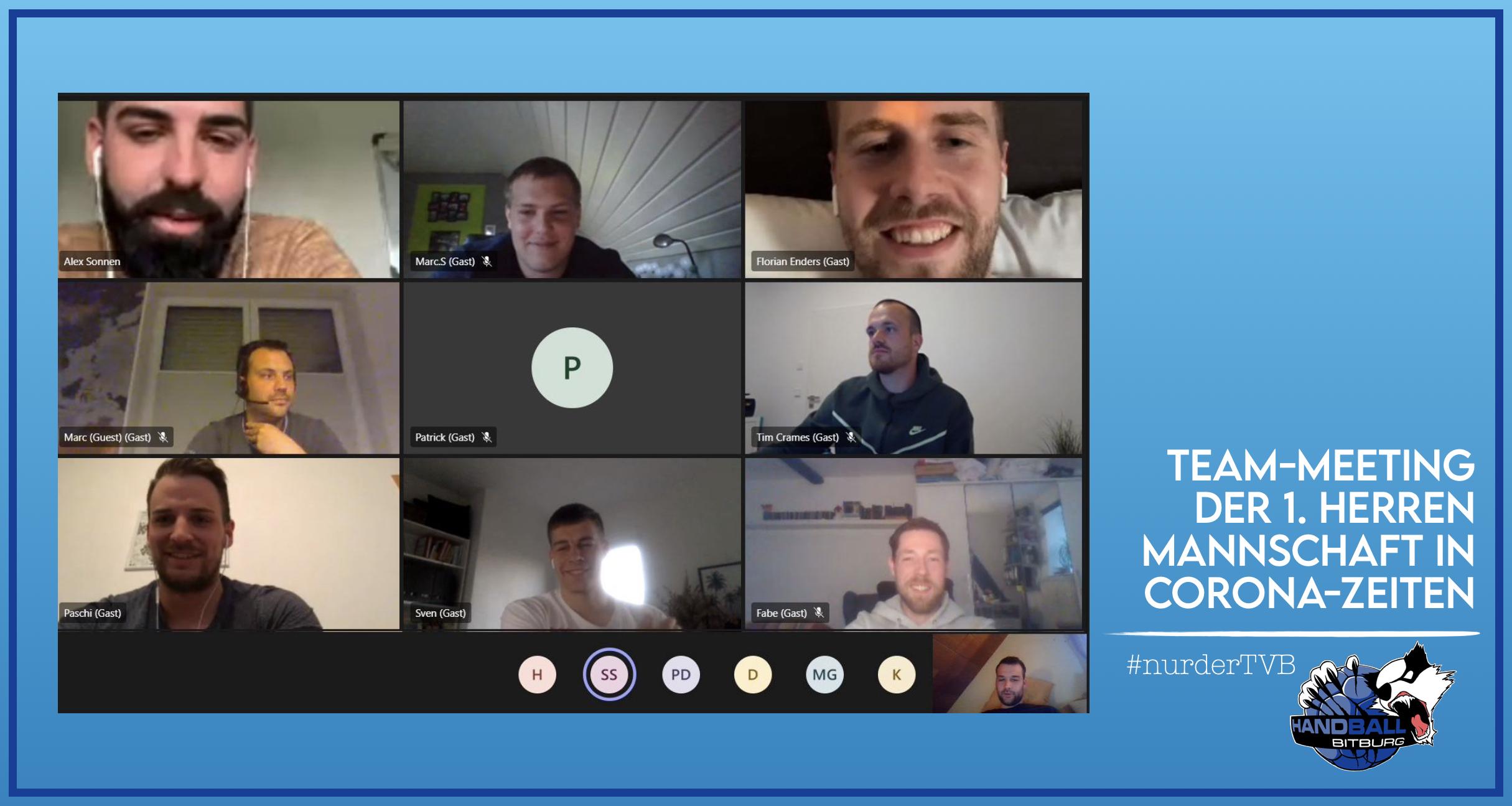 Virtuelles Team-Meeting der 1. Herren Mannschaft