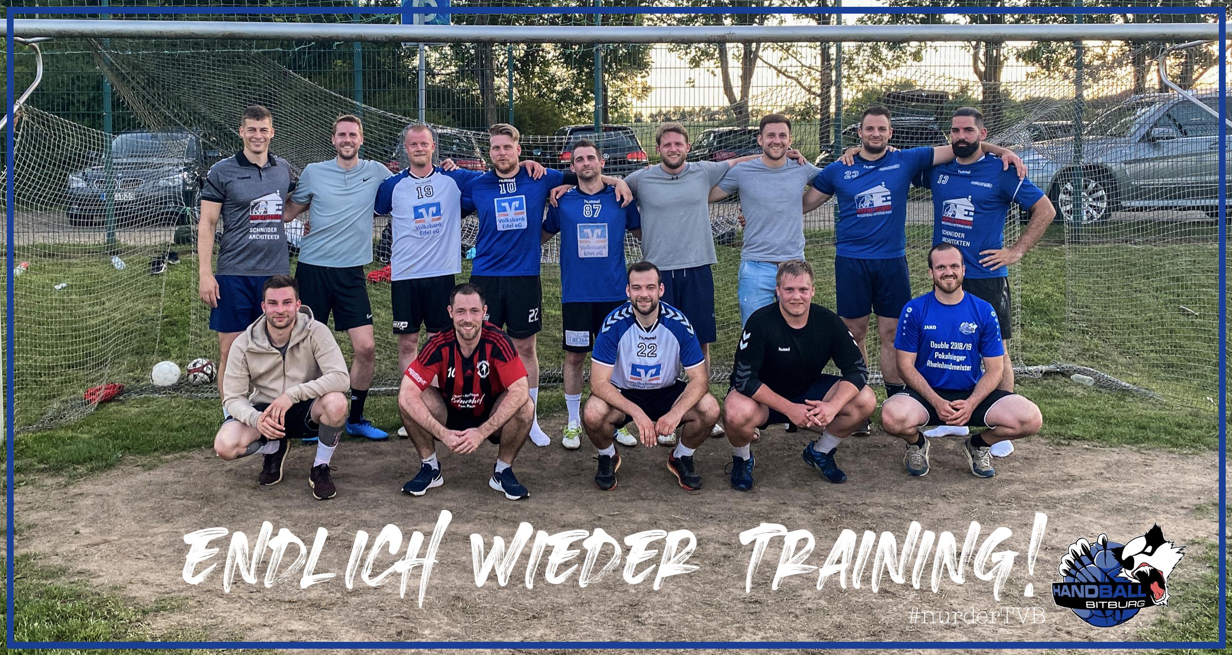 Endlich wieder Training – 1. Herren zurück im Mannschafts-Training
