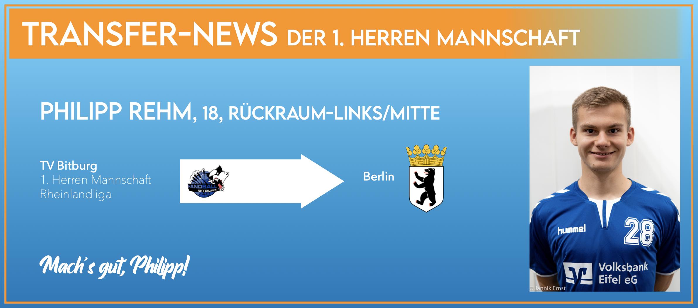 Philipp Rehm verlässt die Eifel fürs Studium in Richtung Berlin