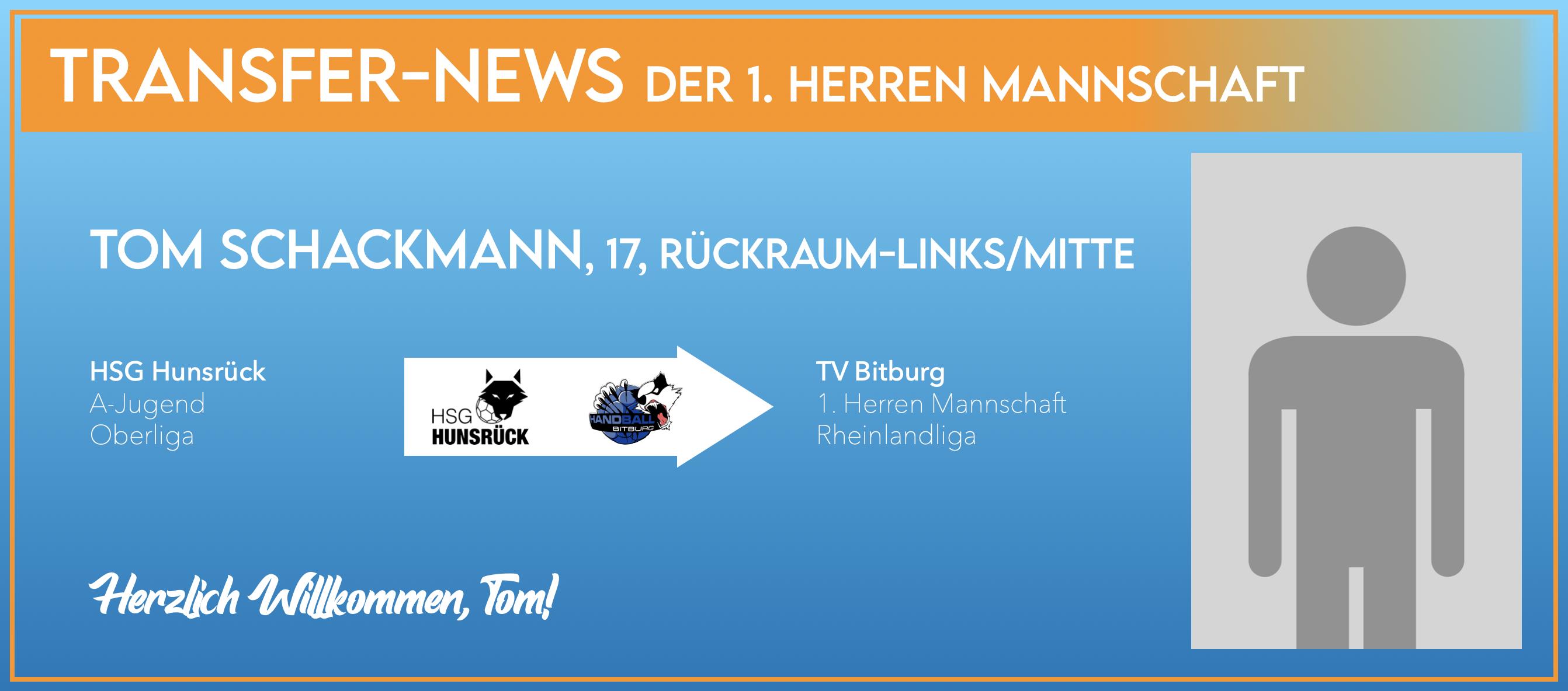 Tom Schackmann wechselt in unsere 1. Herren Mannschaft