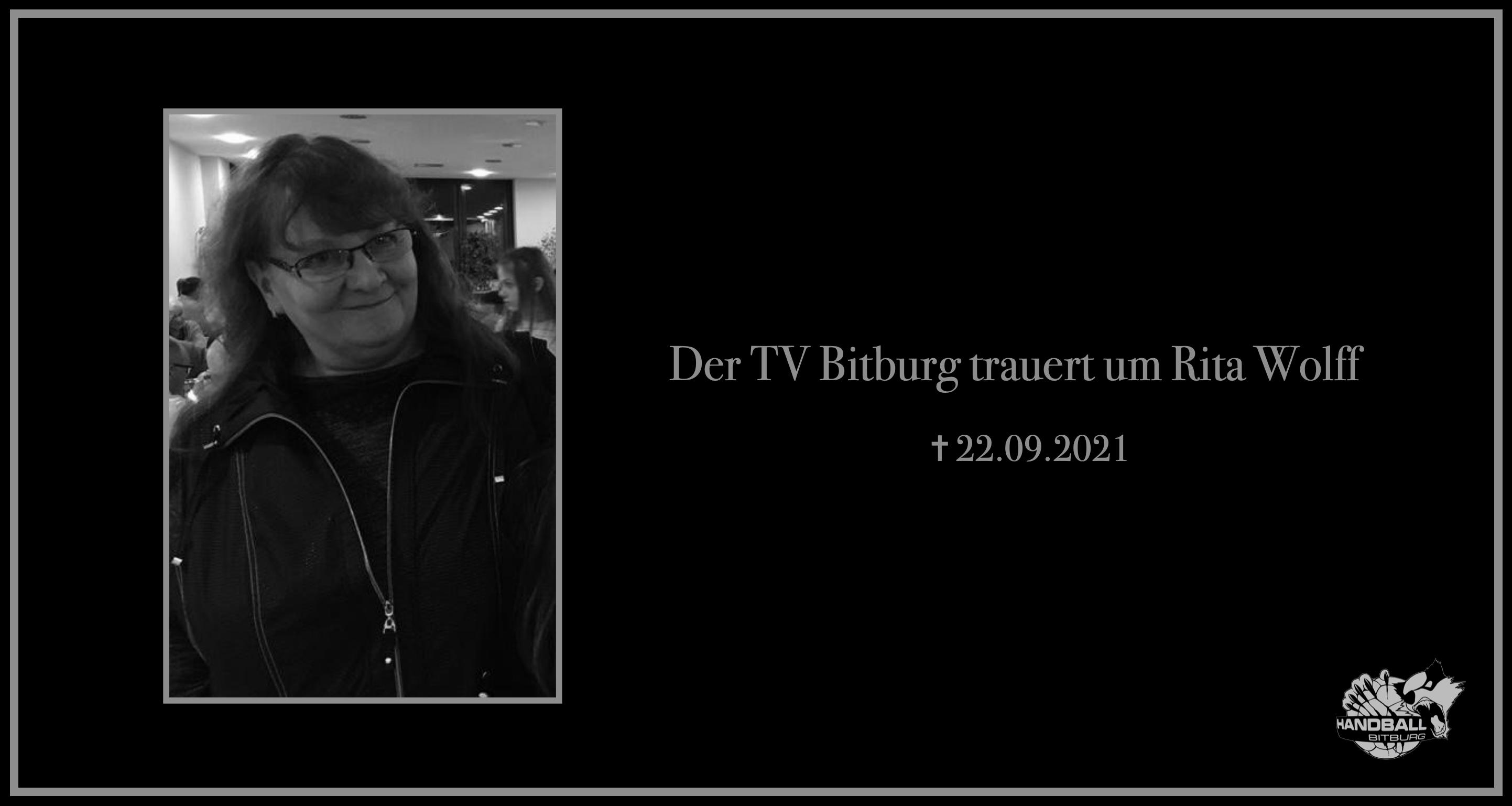 Der TV Bitburg trauert um Rita Wolff
