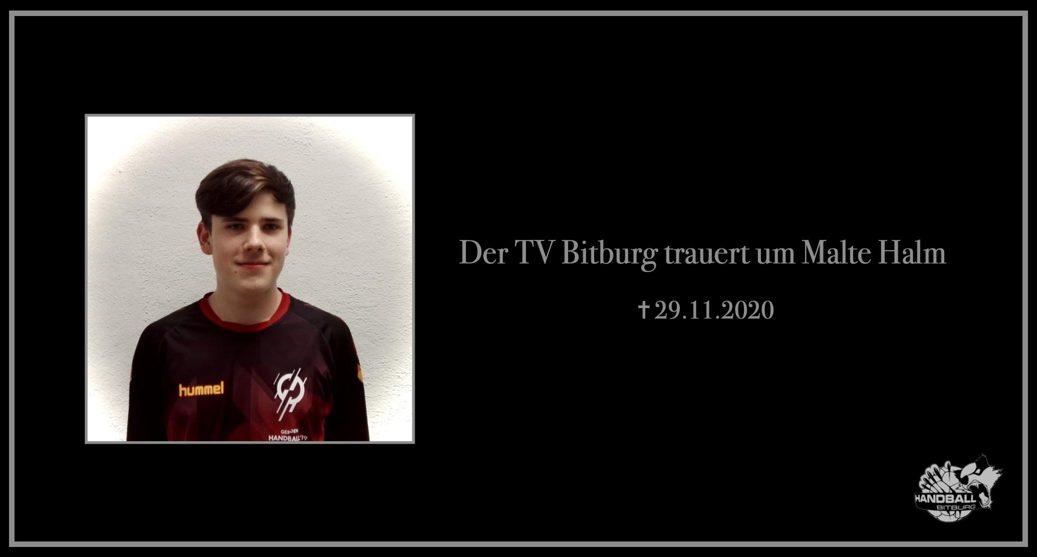 Der TV Bitburg trauert um  Malte Halm