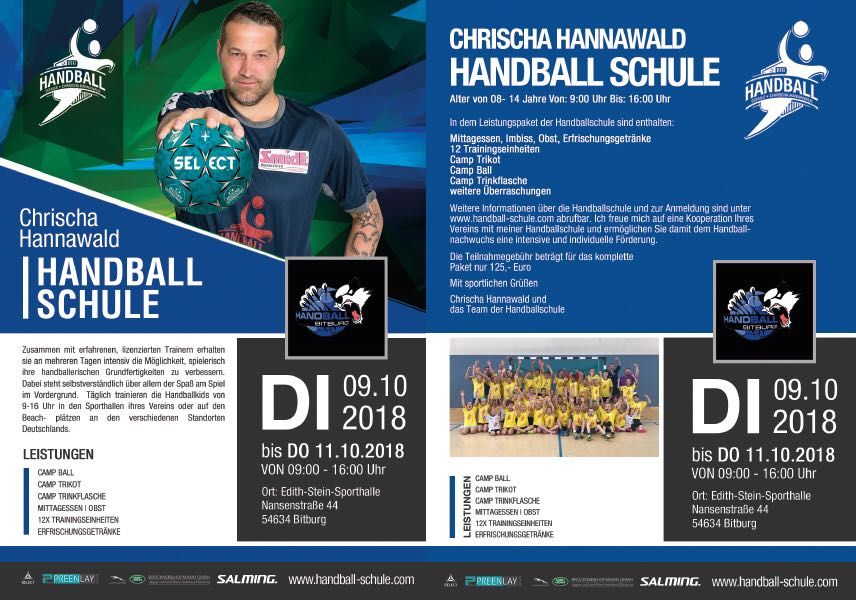 Handballcamp in Bitburg mit Ex-Nationalspieler Chrischa Hannawald
